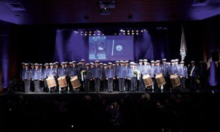 Die neue ausdrucksstarke und optisch  wirkungsvollere Uniform der Polizeimusik  Zürich-Stadt