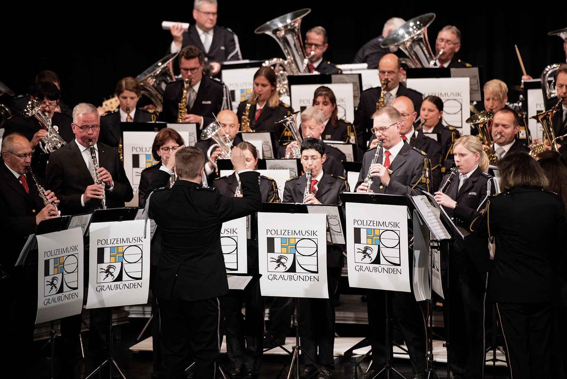 Konzertbesuch  bei der Polizeimusik Graubünden