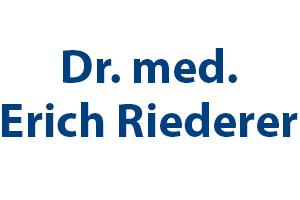 Dr. med. Erich Riederer